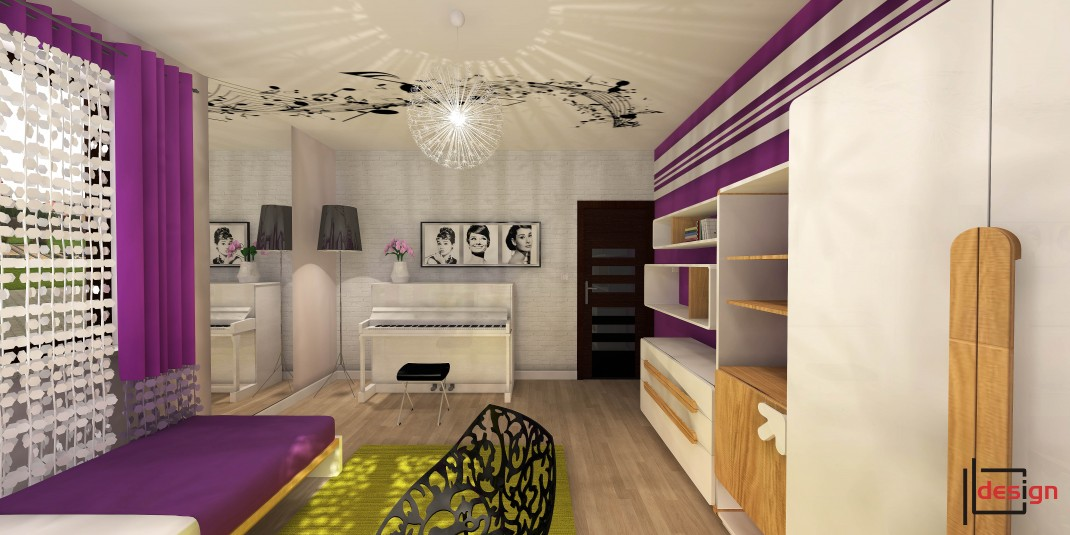 Nowoczesny pokój dla nastolatki