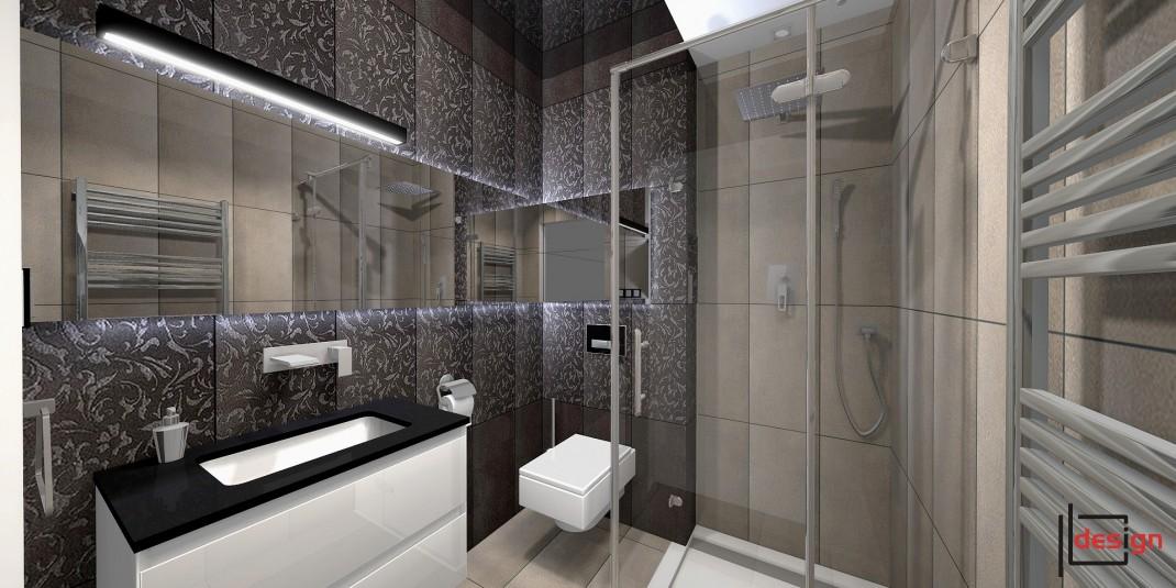 Łazienka z deszczownicą