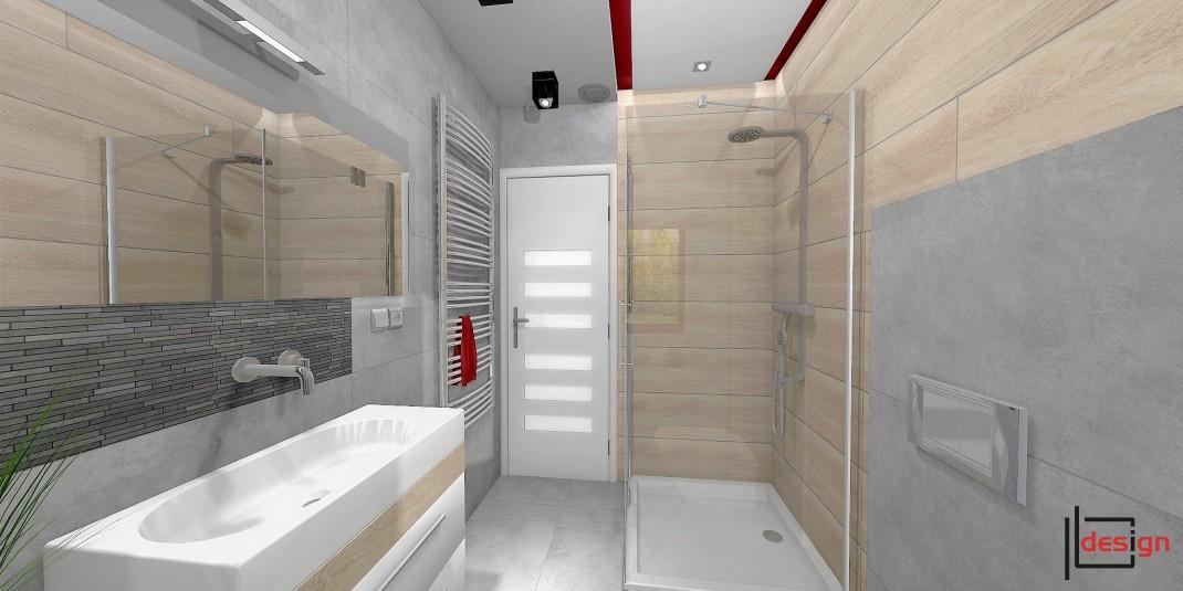 Wizualizacja łazienki z prysznicem