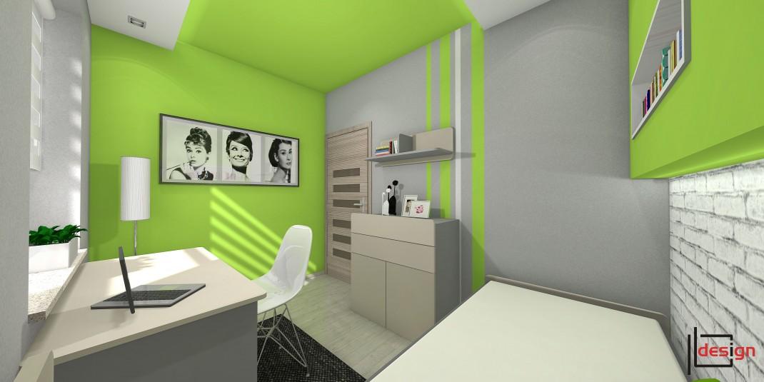 Zielono szary pokój
