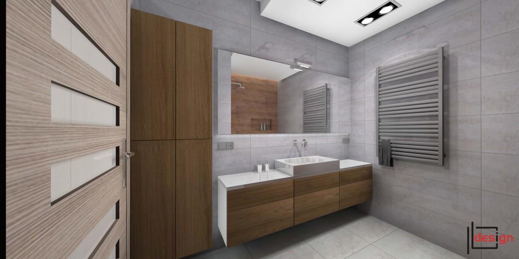 Łazienka z podwieszanym sufitem
