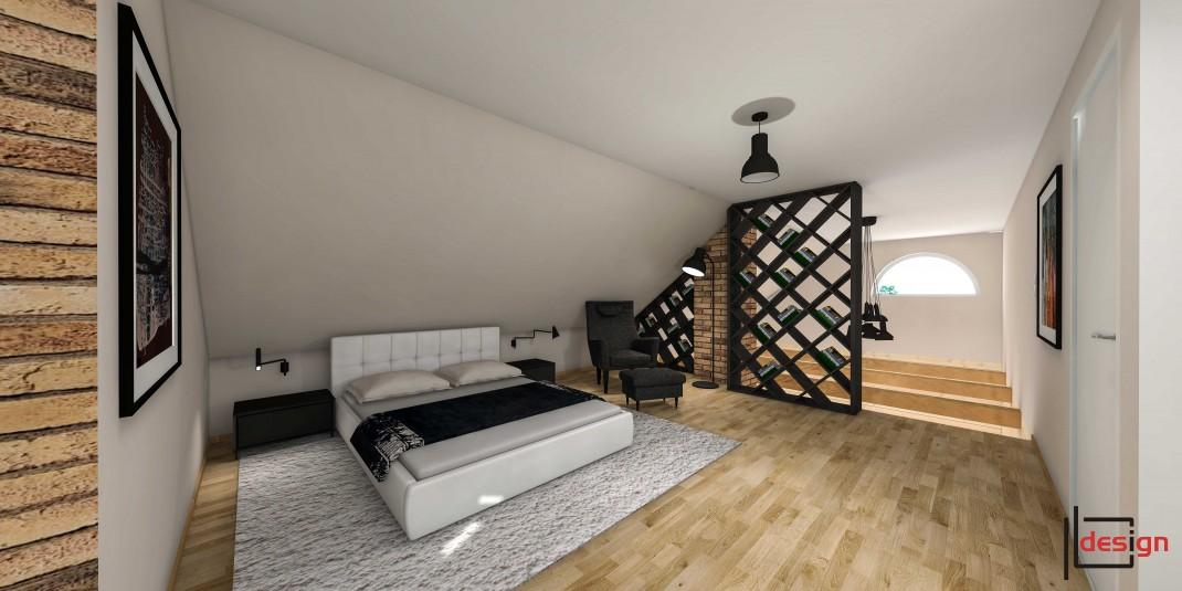 Pokój sypialny na poddaszu