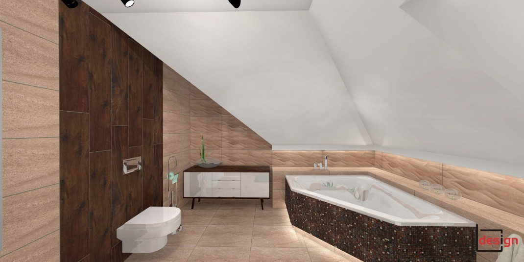 Łazienka z narożną wanną