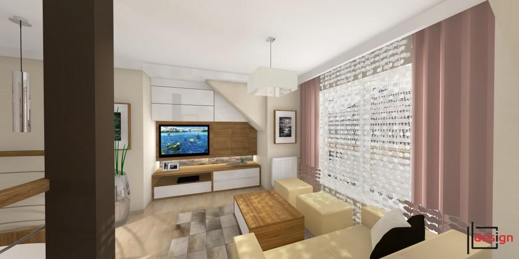 Pokój wypoczynkowy z telewizorem