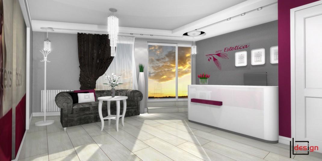 Aranżacja recepcji salonu kosmetycznego