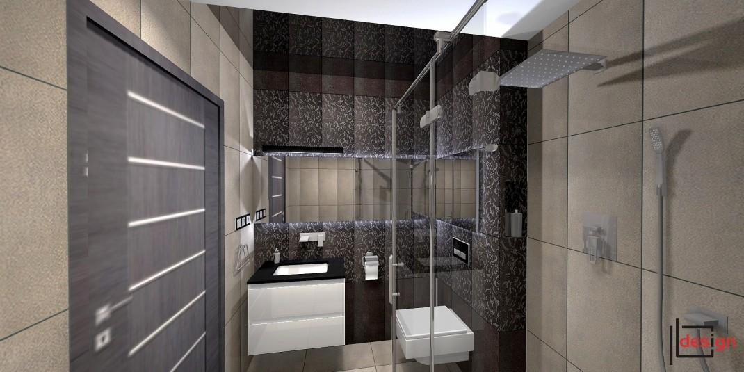 Nowoczesna łazienka z prysznicem