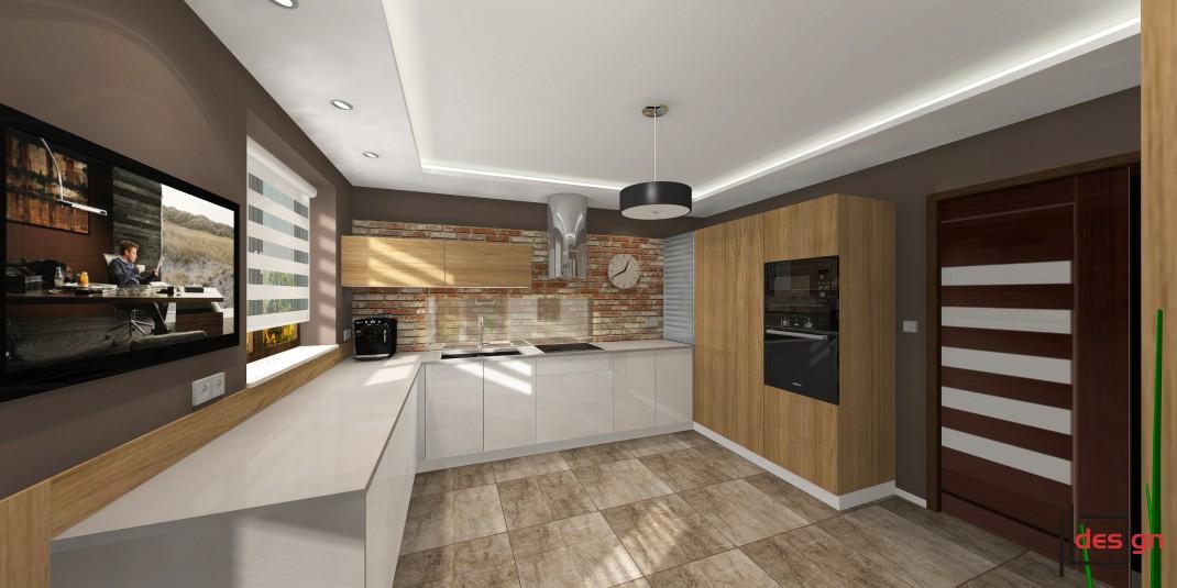 Kuchnia z zabudowanym piekarnikiem