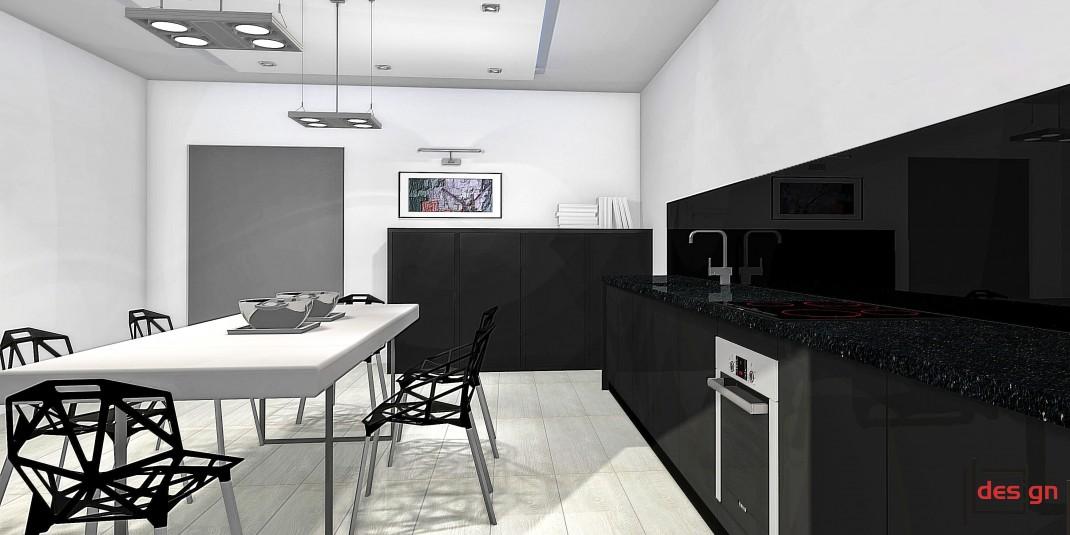 Ciemne meble w kuchni